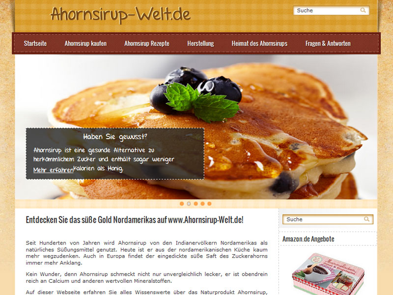 Wordpress reference: Ahornsirup-Welt