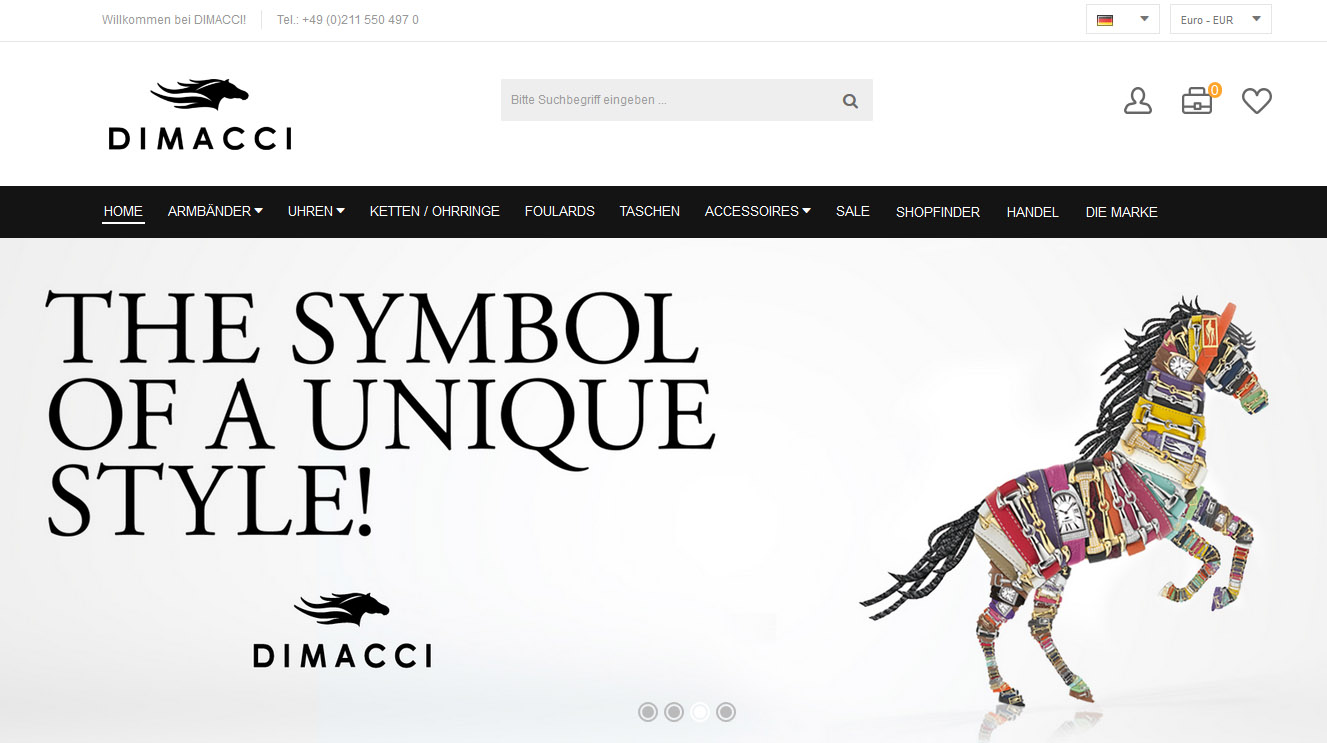 Magento reference: Luxuslabel DIMACCI