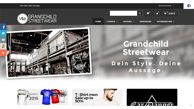 Magento reference: Building and extending of Grandchild Streetwear