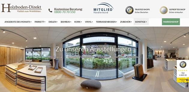 Magento reference: Holzboden Direkt