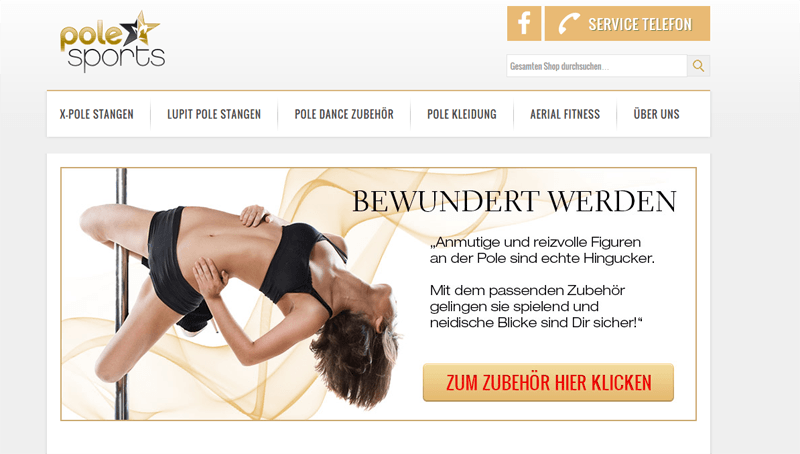 Magento reference: Extension development and layout modifications for http://www.polesportshop.de